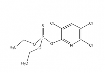 chemical structure of chlorpyrifos