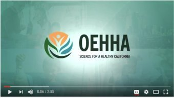 Screenshot of OEHHA video, Science for a Health California